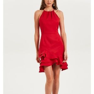 COOPER ST SENORITA HIGH NECK FRILL MINI